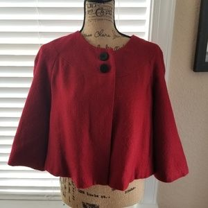 CAtO short Red Jacket 3/4 sleeves